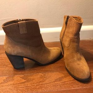 Vince Camuto Camel Suede Ankle Boots